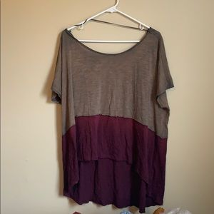 We the free slouchy top